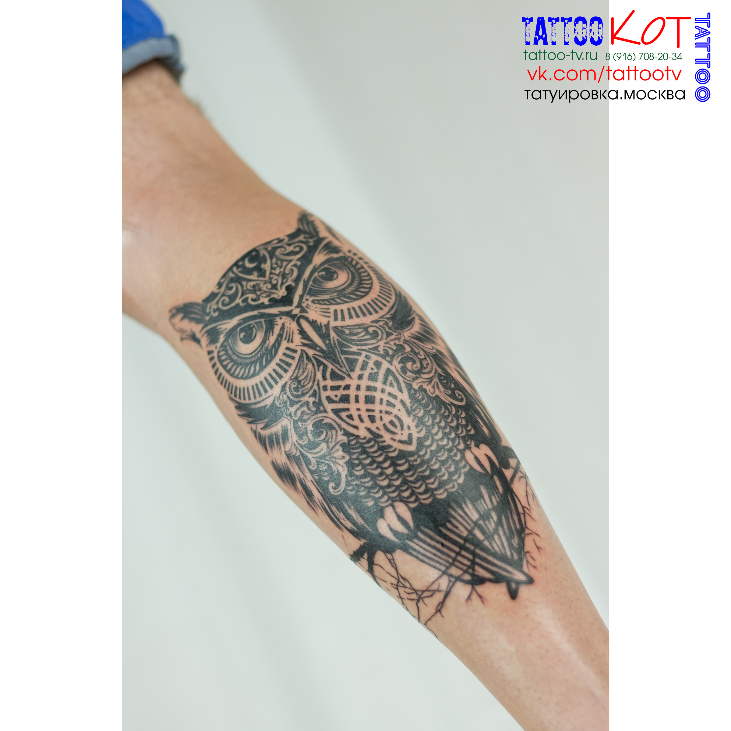 Значение тату сова и часы