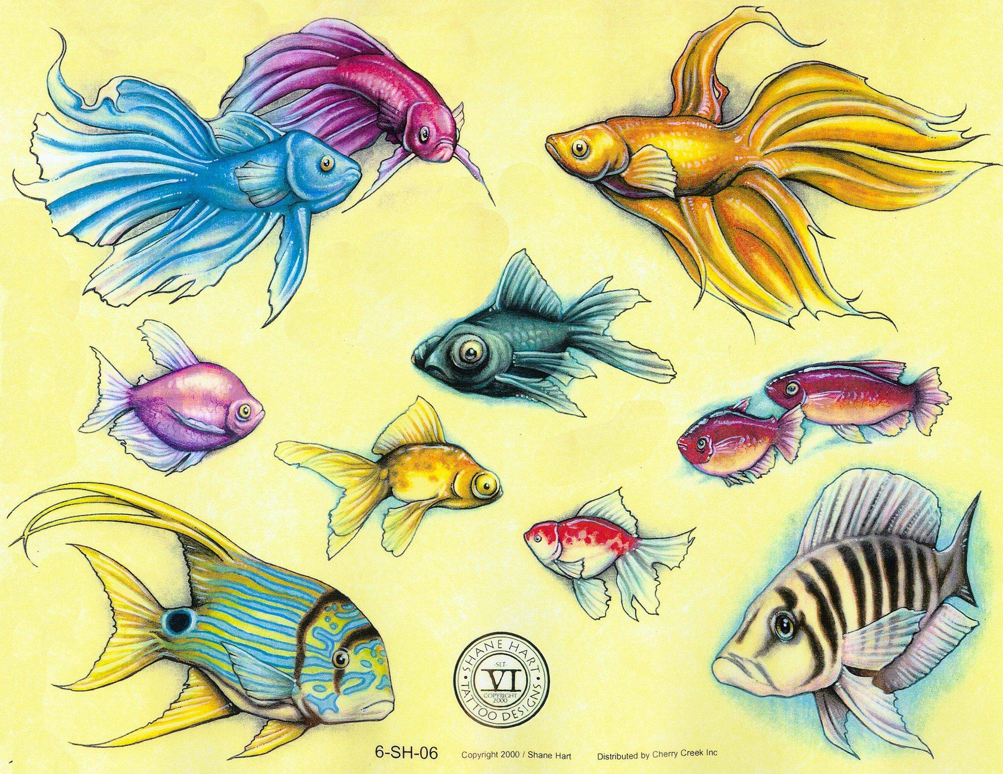 тату рисунком рыбы