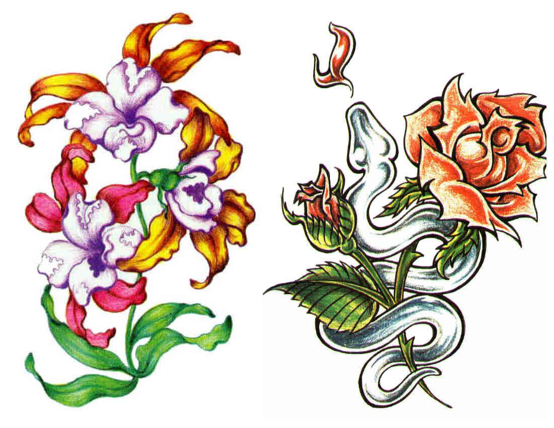 цветные картинки тату